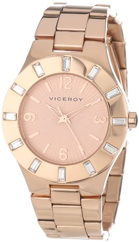 Viceroy Women's 40710-95 Visept12 Rose Gold Ion-Plated Stainless Steel Crystals Bezel Watch