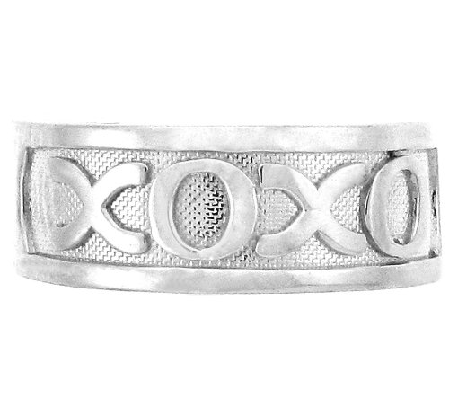 14k White Gold Hugs and Kisses XOXO Toe Ring by More Toe Rings (Image #2)