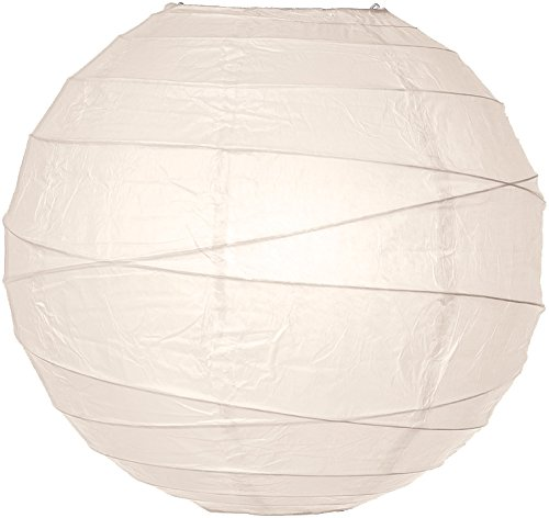 (Luna Bazaar Paper Lantern (10-Inch, Free-Style Ribbed, Off-White) - Rice Paper Chinese/Japanese Hanging Decoration - for Home Decor, Parties, and Weddings)