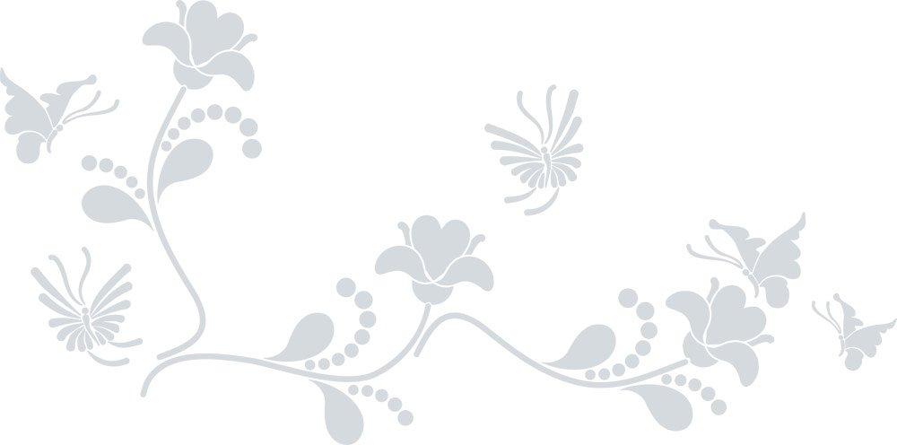 GRAZDesign Wall Tattoo Blaumen - - - Wanddekoration Wandtattoo Ornament - Wanddeko Wandtattoo Blaumenranke - Wandtattoo Schmetterling   101x50cm   azurblau   850109_50_052 B07DVNG1NJ Wandtattoos & Wandbilder e0f234