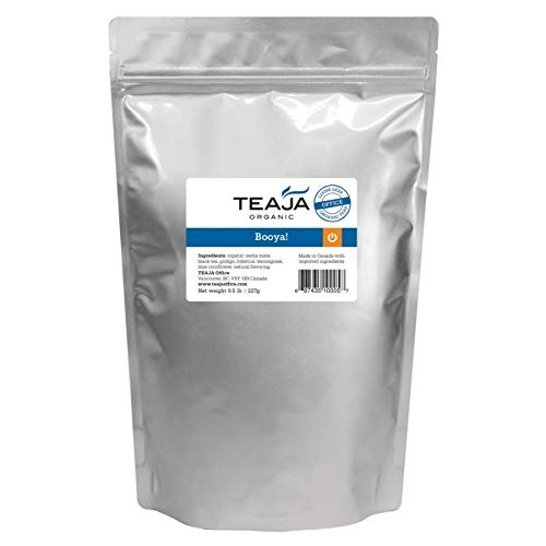 Teaja Organic Loose-Leaf Tea, Booya, 8 Oz - Bags Leaf Tea Blueberry
