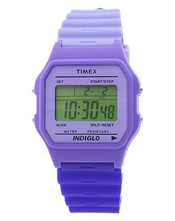 8056e3a3fc4a Timex Reloj de cuarzo T80 Classic Violeta Azul 34 mm  Amazon.es  Relojes