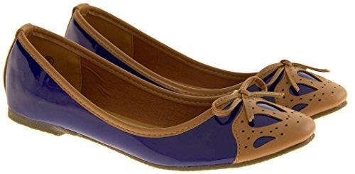 Azul para Studio Bailarinas Footwear mujer WSxq478wZB
