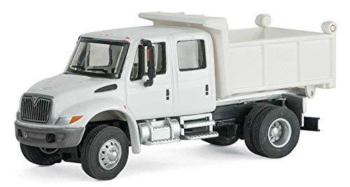 国際( R ) 4300crew-cabダンプトラック–Assembled–-ホワイトwith Utility Company Decalsの商品画像