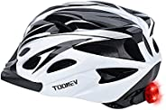 TOONEV Adult Bike Helmet with Safety LED Light,Lightweight Integrally Sport Mountain Bicycle Helmet Adjustable