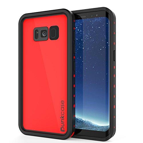 Galaxy S8 Waterproof Case, Punkcase [StudStar Series] [Slim Fit] [IP68 Certified] [Shockproof] [Dirtproof] [Snowproof] Armor Cover for Samsung Galaxy S8 [RED]