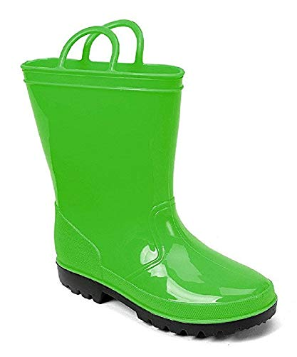 (SkaDoo Green Little Kid Youth Rain Boots 2 M US Little Kid)