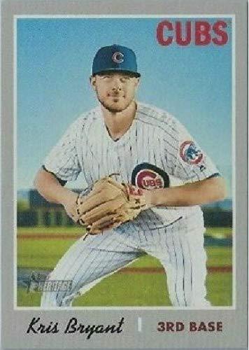 - 2019 Topps Heritage - Kris Bryant - TEAM NAME COLOR SWAP VARIATION - SSP SUPER SHORT PRINT - Chicago Cubs Baseball Card #404