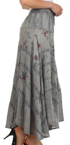 Sakkas 02311 Moon Dance Gypsy Boho Skirt - Charcoal - One Size Photo #4