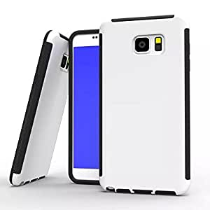 Galaxy Note 5 Case,Lumcrissy Screen Protector Overlay Case for Samsung Galaxy Note 5 Dust Resistant with Built-in Touchscreen Overlay Screen Protector,White Color