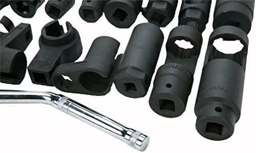 8MILELAKE 21pcs Oxygen Sensor Socket Set Sensor Oil Pressure Sending Unit Socket Set by 8MILELAKE (Image #2)