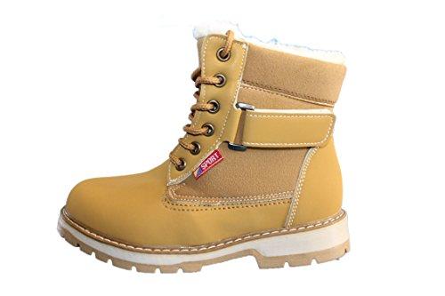 rock and joy-boots fourrées-marron caramel-garçon