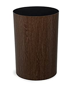 Umbra Treela Small Trash Can U2013 Durable Garbage Can Waste Basket For  Bathroom, Bedroom, Office And More, 4.5 Gallon Capacity With Elegant Walnut  Exterior ...