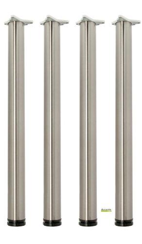 Tischbeine 4er Set Höhe 710 mm Edelstahl O