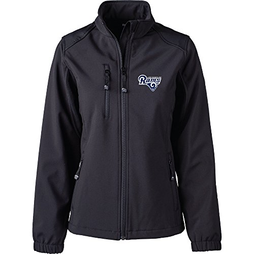 Dunbrooke Apparel NFL Los Angeles Rams Women's Softshell Jacket, Medium, Black by Dunbrooke Apparel