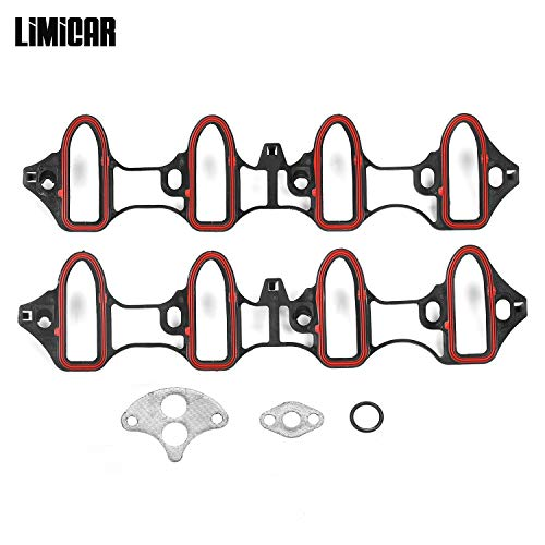 LIMICAR Intake Manifold Gasket MS92211 MS18007 MS4657 Compatible with Chevrolet GMC Hummer 5.3L 4.8L 02-03 Cadillac Escalade 5.3L 01-03 GMC Sierra 1500 HD 6.0L 01-02 GMC Yukon 6.0L Chevrolet Intake Manifold Gasket