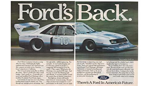 Magazine Print ad: 1982 Ford Zakspeed Roush Motorsport Mustang, Drivers: Kevin Cogan, Turbo 4 cylinder 1.7 L engine,