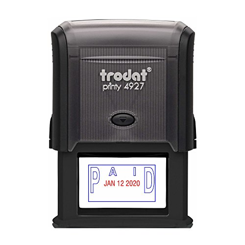 TRODAT 4729P3-B/R - Self-Inking Paid (OUTLINE Text) Date ...
