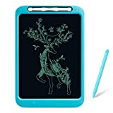 WINDEK Mibro LCD Writing Tablet 12 inch Electronic Kids Tablets Pads, Writing & Drawing Doodle Board, Portable Erasable Ewriter with Smart Stylus&Memory Lock for Home, School and Office (Blue)