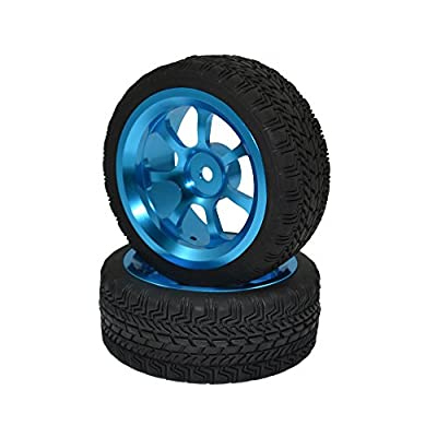 4PCS 1:10 Aluminum Alloy Wheel Rims with Rubber Tires for HPI HSP On Road Racing Car
