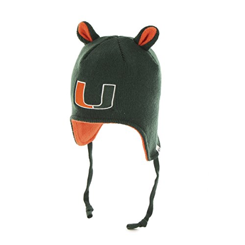 Little Monster Knit Hat - NCAA Miami Hurricanes Toddler Little Monster Knit Hat, One Size, Dark Green