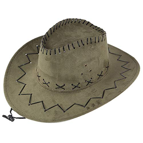 Men West Cowboy Hat Summer Outdoor Travel Mongolian Hat Grassland Visor Sunshade Cap