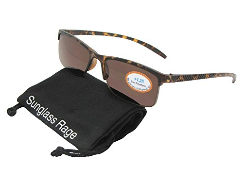 Style R41 Slim Shape Reading Sunglasses With Sunglass Rage Pouch (Tortoise Frame-Brown Lenses, - Sunglasses Shape Face For