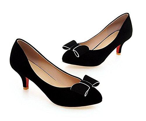 XIE Shallow 's tacco fiori BLACK con 38 sottile da Frosted Scarpe Bocca Punta semplici alto 37 scarpe tennis arco Women rotonda Eq7fExr