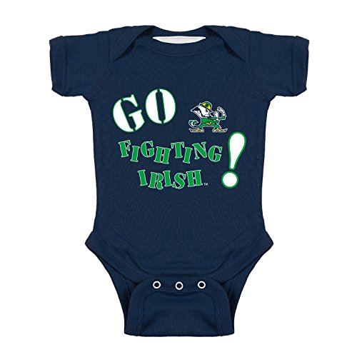 - Notre Dame Fighting Irish Go NCAA College Newborn Infant Baby Creeper (0-3 Months)