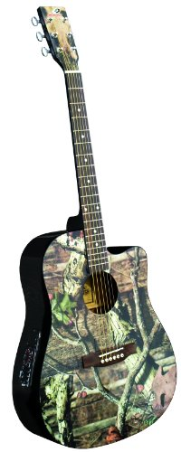 INDIANA Graphic Top MO-1CE Acoustic-Electric Guitar - Mossy Oak Infinity Camouflage