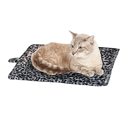 Purrfect Thermal Cat Bed, Cat Mat, Leapord Prints, Gray