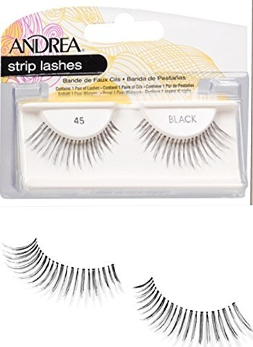 Andrea Lashes Strip Style 45 Black (6 Pack)