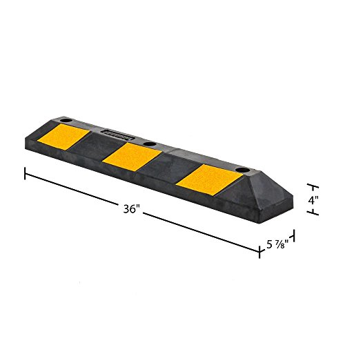 Guardian DH-PB-5 Heavy Duty Rubber Parking Curb-36 Long by Guardian (Image #2)