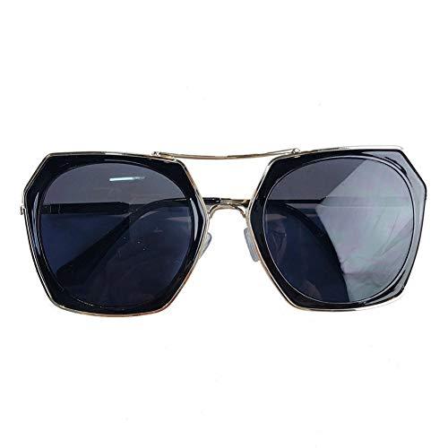 de salvaje marco Gafas redonda era gafas de metal gafas de grande de retro cara de sol marco delgadas NIFG unisex sol 8zw7BxqB