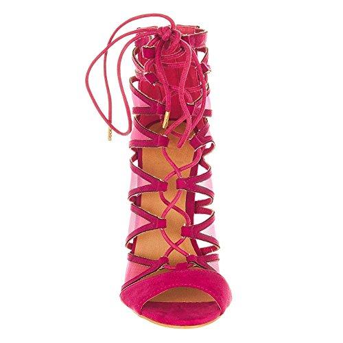Miss Femme Fuchsia toe Diva Peep Shoes z8rqwY8F
