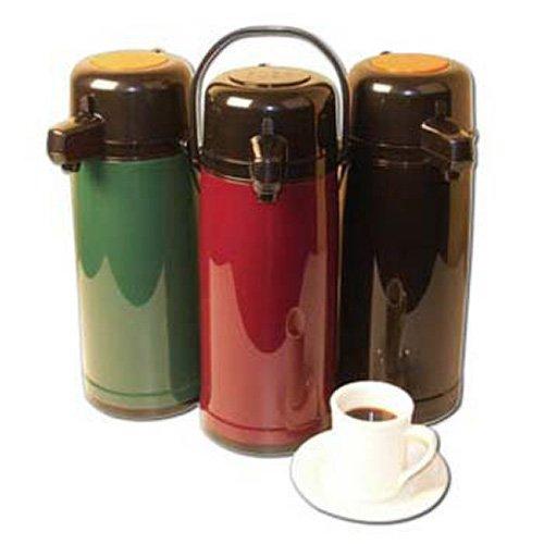 Service Ideas ECA22PBL Eco-Air Push Button Airpot, Glass Vacuum, 2.2 Liter (74.4 oz.), Shiny Black Plastic