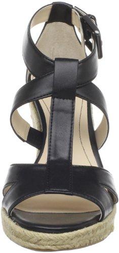 Calvin Klein Womens Emmah Open-Toe Espadrille Black Smooth cIYHbk3f