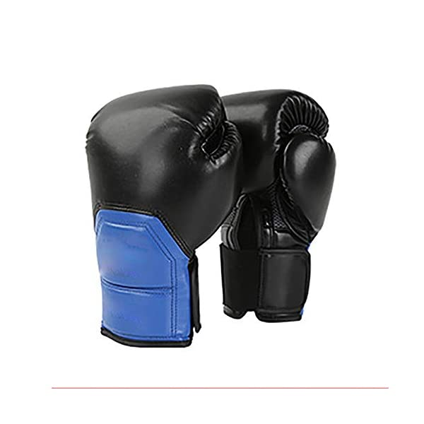 JIAGU-Kickboxing-Gloves-Leather-Boxing-Gloves-Adult-Muay-Thai-Kickboxing-MMA-Sparring-Training-Mitts-Heavy-Bag-Workout-Color-Blue-Size-10oz