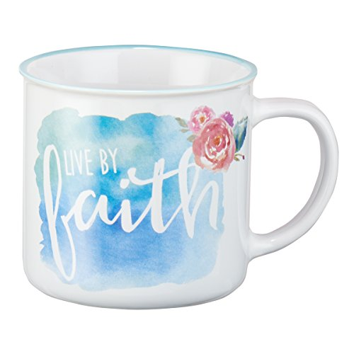 Mug - Live By Faith Watercolor Collection, White