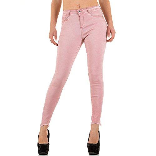 Used Look High Waist Skinny Jeans Für Damen , Rosa In Gr. 40 bei Ital