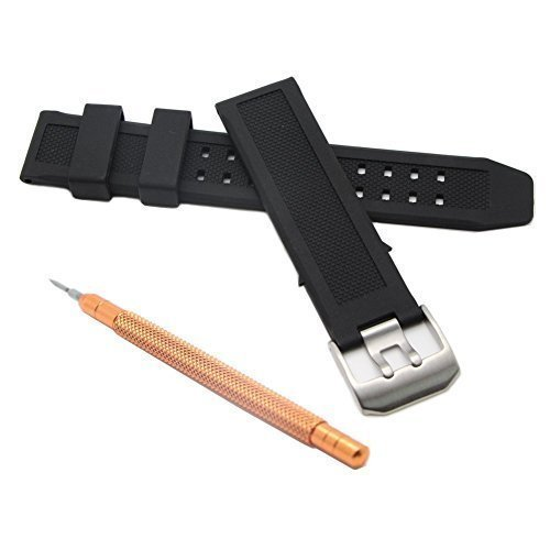 23mm Double Prong Rubber Watch Band Strap Fits Casio,timex,seiko,replacement Luminox 3050 and 3950 Series