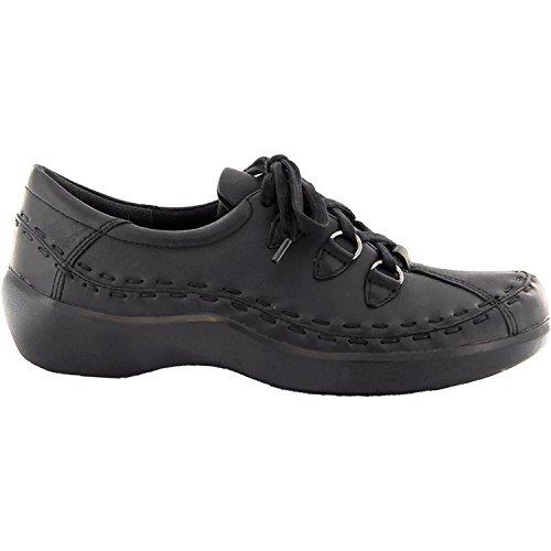 Ziera Women's Allsorts Black Trooper Nubuck 39 Wide (Ziera Shoes)