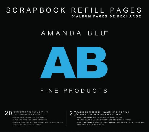 Postbound Top (Amanda Blu Postbound Page Protectors 12x12 20/Pkg-Top-Loading)