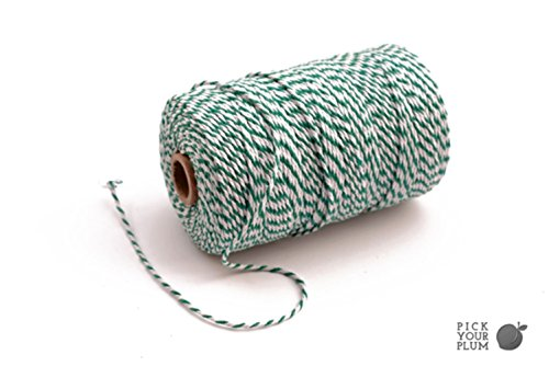 Thick Bakers (BAKER'S TWINE, Box Decorating, Gift Tag String, Butcher's Twine, St Patrick's Day Craft, Mixed Color, DIY Cards (Green White))