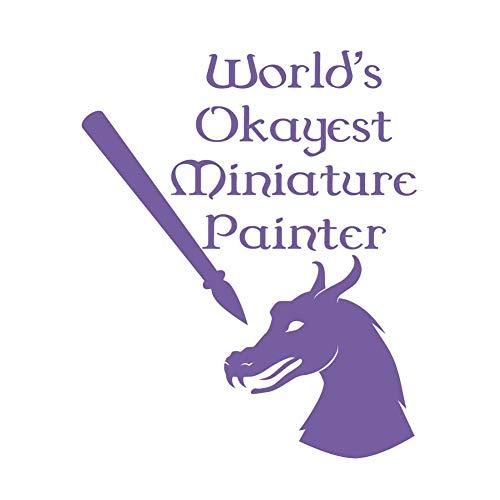 (World's Okayest Miniature Painter 7 inch Lavender Indoor Outdoor Vinyl Decal)