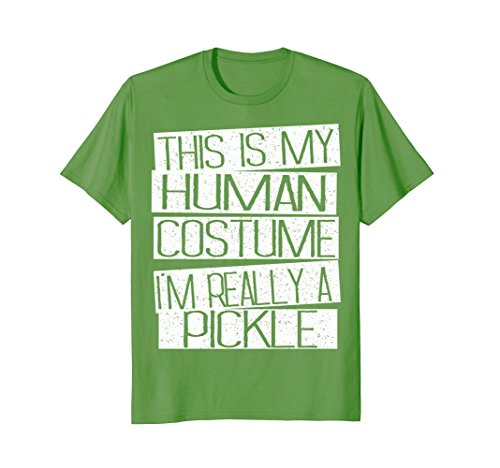 Mens Pickle Halloween Costume Kids Shirt - Funny Halloween Gift Small Grass -