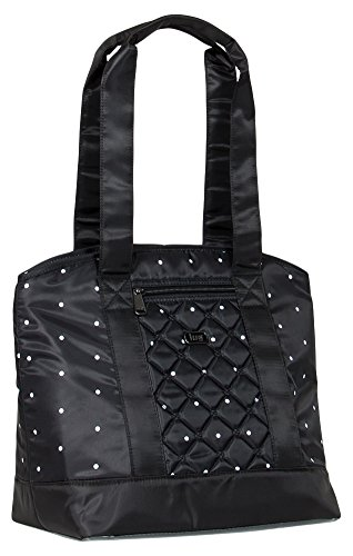 Lug Scooter Lunch Travel Tote, Black Dot, One Size (Model: SCOOTER-BLACK DOT) LUGCA