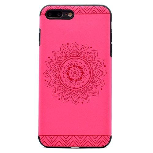 "inShang iPhone 7 Plus 5.5"" Funda y Carcasa para iPhone 7 Plus 5.5 inch case iPhone7 Plus 5.5 inch móvil,Ultra delgado y ligero Material de TPU,carcasa posterior (Back case) con , Rose printing"