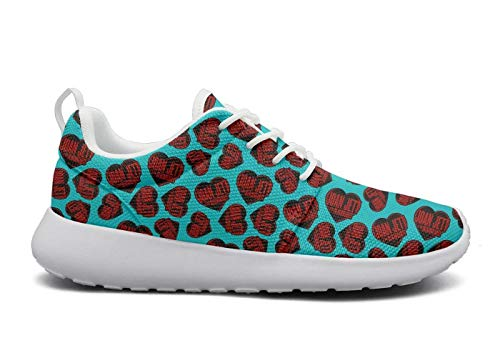 15a860d28ada uter ewjrt Mens Guys Crimson-and-Clover- Comfortable Track Running Shoes  mesh Training Sneaker