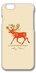 iPhone 6 Case, Ultra Slim Pattern Bumper for iPhone 6 Cover (4.7) Merry Christmas Vintage Reindeer Illustration Ideas 3D iPhone 6 cases for Girls iphone 6 case hard PC Skin